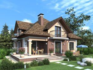 Красивый загородный домик
