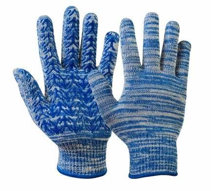 Перчатки хлопчатобумажные с ПВХ покрытием