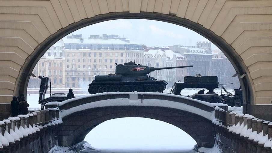 Парад посвященный 75-летию снятия блокады Ленинграда