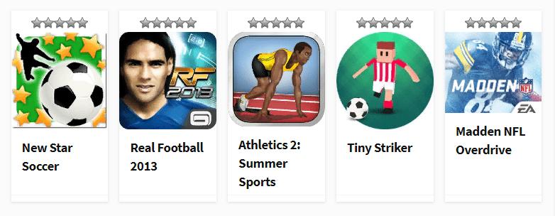 Спортивные игры для Андроид