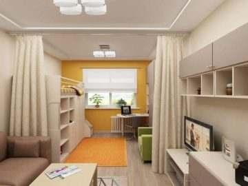 обустроить однокомнатную квартиру для семьи